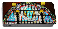 Casino Stained Glass Portable Battery Charger by Sarah Loft