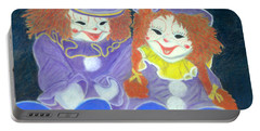 Aunt Cassies Raggedy Ann And Andy  Pastel Portable Battery Charger