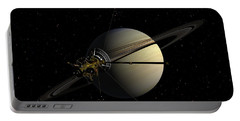 Cassini Orbiting Saturn Portable Battery Charger