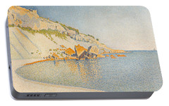 Portable Battery Charger featuring the painting Cassis. Cap Lombard. Opus 196 by Paul Signac