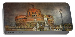 Portable Battery Charger featuring the photograph Castel Sant Angelo Fine Art by Hanny Heim