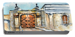 Castillo De San Cristobal Entry Gate Portable Battery Charger by Carlin Blahnik