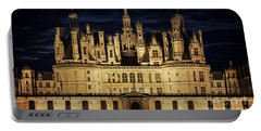 Portable Battery Charger featuring the photograph Castle Chambord Illuminated by Heiko Koehrer-Wagner