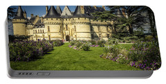 Portable Battery Charger featuring the photograph Castle Chaumont With Garden by Heiko Koehrer-Wagner