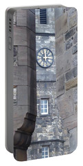Castle Clock Through Walls Portable Battery Charger by Margaret Brooks