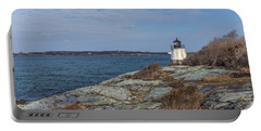 Castle Hill Lighthouse On Narragansett Bay Portable Battery Charger by Brian MacLean
