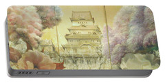 Castle Himeji - Sakura Portable Battery Charger by Sorin Apostolescu