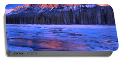 Castle Mountain Purple Refelctions Portable Battery Charger