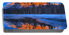Castle Mountain Sunset Reflections Portable Battery Charger