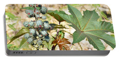 Portable Battery Charger featuring the photograph Castor Oil Plant by Ray Shrewsberry