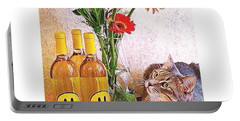 #cat + #wine + #flowers = The #caturday Portable Battery Charger