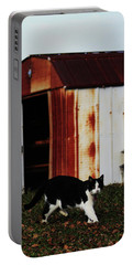 Cat And The Tool Shed Portable Battery Charger by Kim Henderson