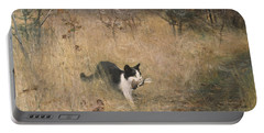 Cat Bird Hunting  Portable Battery Charger
