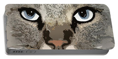 Cat Portable Battery Charger by Cynthia Powell