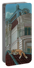 Cat From A Boulevard Saint-michel Portable Battery Charger