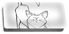 Cat Gesture Sketch Portable Battery Charger
