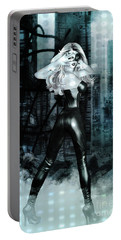 Cat Girl Comic Like Pinup Portable Battery Charger