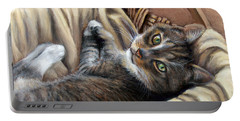 Cat In A Basket Portable Battery Charger