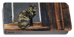 Cat In A Window Portable Battery Charger