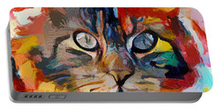 Cat In Fire Portable Battery Charger