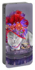 Cat In The Red Hat Portable Battery Charger by Carol Cavalaris