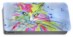 Cat Of Many Colors Portable Battery Charger