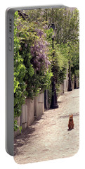 Cat On Cobblestone Portable Battery Charger