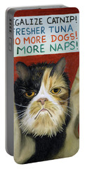 Cat On Strike Portable Battery Charger
