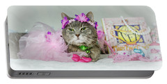 Cat Tea Party Portable Battery Charger
