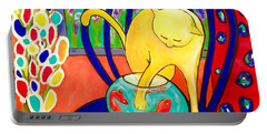 Cat - Tribute To Matisse Portable Battery Charger