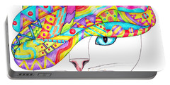 Cat With A Fancy Turban Portable Battery Charger