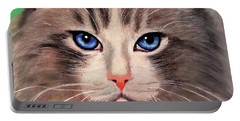 Cat With Blue Eyes Portable Battery Charger