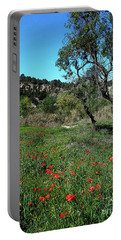 Catalan Countryside In Spring Portable Battery Charger