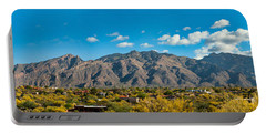 Portable Battery Charger featuring the photograph Catalina Mountain Panorama by Dan McManus