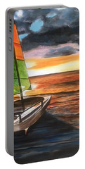 Catamaran At Sunset Portable Battery Charger by Lloyd Dobson