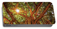 Catch A Sunbeam Under The Banyan Tree Portable Battery Charger