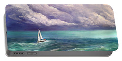 Tell The Storm Portable Battery Charger by Patricia L Davidson