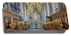 Portable Battery Charger featuring the photograph Cathedral Aisle by Adrian Evans