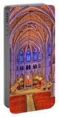 Portable Battery Charger featuring the photograph Cathedral Basilica Of The Sacred Heart Newark Nj II by Susan Candelario