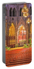Portable Battery Charger featuring the photograph Cathedral Basilica Of The Sacred Heart Newark Nj by Susan Candelario