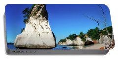Portable Battery Charger featuring the photograph Cathedral Cove by Mark Dodd