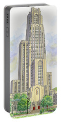 Cathedral Of Learning Portable Battery Charger by Val Miller