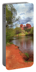 Portable Battery Charger featuring the photograph Cathedral Rock From Oak Creek by James Eddy