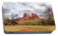 Portable Battery Charger featuring the photograph Cathedral Rock Panorama by James Eddy