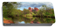 Portable Battery Charger featuring the photograph Cathedral Rock Reflection by James Eddy