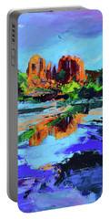 Portable Battery Charger featuring the painting Cathedral Rock - Sedona by Elise Palmigiani