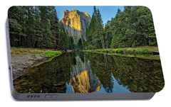 Cathedral Rocks Morning Portable Battery Charger by Peter Tellone