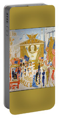 Portable Battery Charger featuring the photograph The Cathedrals Of Wall Street - History Repeats Itself by John Stephens