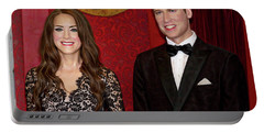 Portable Battery Charger featuring the photograph Catherine And Prince William by Miroslava Jurcik