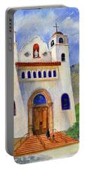 Catholic Church Miami Arizona Portable Battery Charger by Marilyn Smith